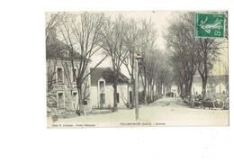 Cpa - 36 - VILLENTROIS  Avenue - HOTEL RIOLAN - Attelage Cheval échelle - 1908 - Other Municipalities