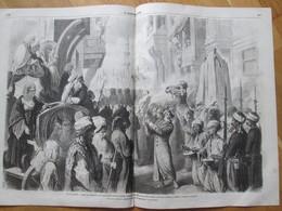 Gravure 1865  Constantinople Turquie Départ  Caravane SURE EMINI   Hedjza La Mecque - Non Classés