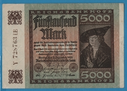 DEUTSCHES REICH 5000 Mark 02.12.1922# Y28763LE P# 81c - 5000 Mark