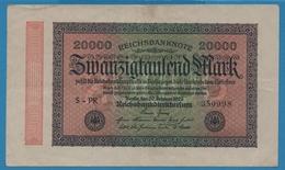 DEUTSCHES REICH 20000 Mark20.02.1923# S-PR 350998 P# 85j - 20000 Mark