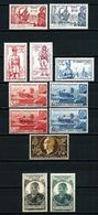 India (Francesa) LOTE 6 Series*/** - Unused Stamps
