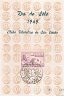 DIA DO SELO 1949, CLUB FILATELICO DO SAO PAULO, COMPANHIA DE EQUITAÇÃO DE ADULTOS. BRASIL MAXIMUM CARD -LILHU - Giornata Del Francobollo