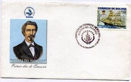 BOLIVIA 1905 FDC GUERRA DEL PACIFICO DESDE LA CUMPLE ALTIVA AL OCEANO CAUTIVO UNA SOLA VOLUNTAD EXCLAMA ... - NTVG. - Bolivia