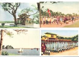 Vietnam - Viet Nam - 4 Old Cards - Parade - Landscape - Vietnam