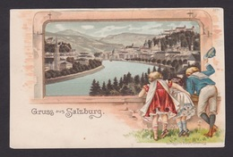 AK / Salzburg / Totale / Rahmen / Kinder / Prägekarte ..   ( E 603 ) - Salzburg Stadt
