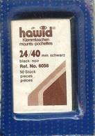 Hawid - Pochettes 24x40 Fond Noir (simple Soudure) - Bandes Cristal