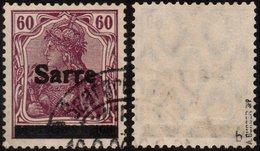 ✔️ Sarre 1920 - Germania Avec Surcharge - Signe Burger BPP - Yv. 14 (IIIB?) (o) - 1920-35 League Of Nations