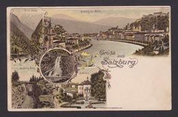 AK / Salzburg / Gaisberg - Bahn / Hellbrunn / Salzburg Von Mülln ..   ( E 604 ) - Salzburg Stadt