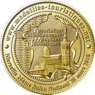 13 MARSEILLE FRANCE NOTRE DAME DE LA GARDE MÉDAILLE ARTHUS BERTRAND 2010 JETON TOURISTIQUE MEDALS TOKENS COINS - Arthus Bertrand
