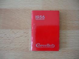 1936 Calendrier Agenda Corcellet Cafe Comestibles Vins Fins Paris Passy - Kalenders