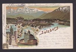 AK / Salzburg / Wallfahrtskirche Maria Plain / Mozart Denkmal  / Totale / Gelaufen 1901   ..   ( E 607 ) - Salzburg Stadt