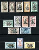 India (Francesa) Nº 59/73 (falta Nº 69)*/(*) - Indië (1892-1954)