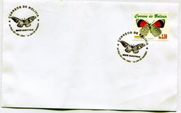 BOLIVIA 2001 FDC LA PAZ SERIE MARIPOSAS EL NUMERO DIATHRINA CLYMENE - NTVG. - Bolivia
