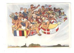 CPA  Scoutisme JAMBOREE DE LA PAIX, 1947  Illustration De Scouts Illustrateur JOUBERT - Scoutismo