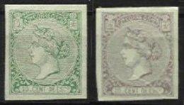 SPAIN, Yv 83/4, (*) MNG, F/VF, Cat. € 540,00 - 1850-68 Königreich: Isabella II.