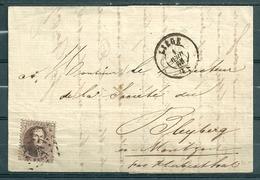 Nr 14A Op Brief Van Liege Naar Bleyberg (Montzen) - 07 Avr 1863 - 1863-1864 Medaillen (13/16)
