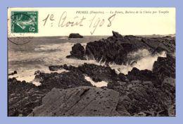 CPA - Primel (29) - La Pointe - Rochers De La Chaise Par Tempête - Primel