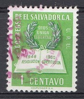 El Salvador 1952  Mi.nr: 670 Jahrestag Der Revolucion  Oblitérés - Used - Gebruikt - Salvador