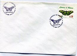BOLIVIA 2001 FDC LA PAZ SERIE MARIPOSAS CAÑA VERDE PHILAETHRIA DIDO L - NTVG. - Bolivia