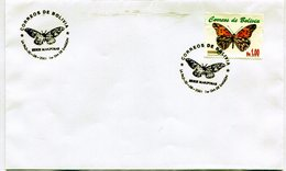 BOLIVIA 2001 FDC LA PAZ SERIE MARIPOSAS DIONE JUNO CRAMER - NTVG. - Bolivia