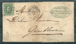 Nr 30 Op Brief Van Bruxelles Nord Naar Gembloux - 03 Juil 1871 - 1869-1883 Leopold II.