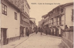 POSTCARD SPAIN ESPAÑA - GALICIA - ORENSE - VERIN - CALLE DE DOMINGUEZ HERVELLA - Orense