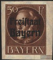 Bavaria 161B Unmounted Mint / Never Hinged 1920 King Ludwig With Print - Bavaria