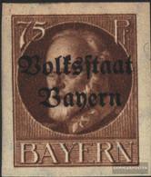 Bavaria 135B Unmounted Mint / Never Hinged 1920 King Ludwig With Print - Bavaria