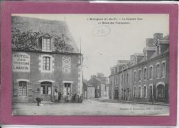 22.-  MATIGNON La Grande Rue Et Hôtel Des Voyageurs - Andere Gemeenten