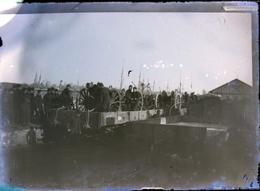 Rare Plaque De Verre 6.5 X 9 Cm Artillerie Chargeant Canons Dans Wagons - 1914-18
