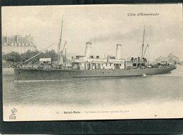 CPA - SAINT MALO - Le Bateau De Jersey Sortant Du Port - Saint Malo