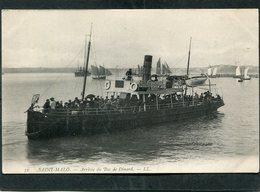 CPA - SAINT MALO - Arrivée Du Bac De Dinard, Animé  (dos Non Divisé) - Saint Malo