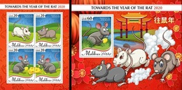 Maldives 2020, Year Of The Rat, 4val In BF +BF - Astrología