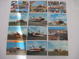CALAIS (62) : Liaison Transmanche Par Hovercraft – Embarquement Des Autos Années 1970-1975- LOT De 12 CPM - Voir 2 Scans - Hovercrafts