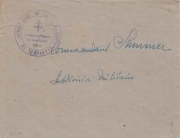 Cachet Croix De Lorraine Commissariat De La République De Bordeaux Délégué à La Propagande Des Basses Pyrénées PAU - Marcophilie (Lettres)