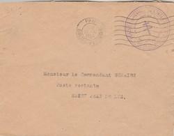 Cachet Croix De Lorraine Forces Françaises De L' Intérieur Région Bordeaux Commandant Troupes Basses Pyrénées Pau 1944 - Marcophilie (Lettres)