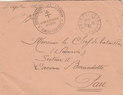 Cachet Croix De Lorraine Forces Françaises De L' Intérieur Basses Pyrénées Chef Détachement LARUNS 20/9/1944 - Marcophilie (Lettres)