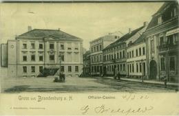 AK GERMANY - GRUSS AUS BRANDENBURG OFFIZIER - CASINO  - EDIT J. FRIEDLANDER -  MAILED BY G. BIELEFELD  1902 (7752) - Brandenburg