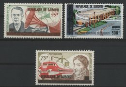 DJIBOUTI POSTE AERIENNE COTE 25 € SERIE N° 112 à 113 + 114  MNH**. TIMBRES DES AFARS ET ISSAS SURCHARGES. TB - Djibouti (1977-...)