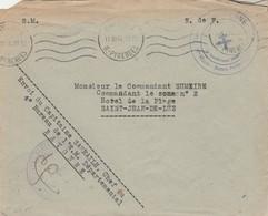 Cachet Croix De Lorraine Forces Françaises De L' Intérieur Basses Pyrénées Commandant Bayonne 12/11/1944 - Marcophilie (Lettres)