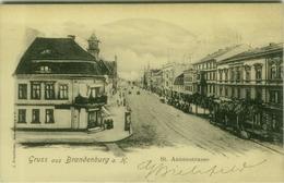 AK GERMANY - GRUSS AUS BRANDENBURG - ST. ANNENSTRASSE - EDIT J. FRIEDLANDER - MAILED BY G. BIELEFELD 1902 (7753) - Brandenburg