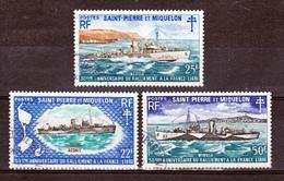 Saint Pierre Et Miquelon  414/416 Bateaux Anniversaire Du Ralliement  Oblitérés TB Used Cote 50 - Oblitérés