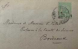 R1631/2268 - REGENCE DE TUNIS - N°11 Seul Sur ✉️ TUNIS (TUNISIE) 27 FEVRIER 1907 à BORDEAUX (FRANCE) - Tunisia (1888-1955)