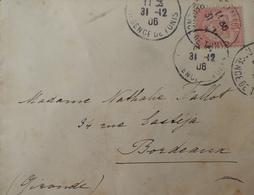 R1631/2269 - REGENCE DE TUNIS - N°23 Seul Sur ✉️ TUNIS (TUNISIE) 31 DECEMBRE 1906 à BORDEAUX (FRANCE) - Tunisia (1888-1955)