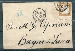Yv 11 Sur Lettre De Firenze à Bagni Di Luca - 17 Juil 1866 - Romagna