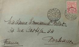 R1631/2271 - NOUVELLE CALEDONIE - N°92 Seul Sur ✉️ NOUMEA (NOUVELLE CALEDONIE) 20 FEVRIER 1914 à BORDEAUX (FRANCE) - New Caledonia