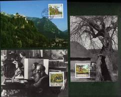 """Liechtenstein 1996: MK-Set CM No. 145 """"Eugen Zotow"""" (1881-1953) Zu 1080-82 Mi 1138-40 Yv 1079-81 (Zu CHF 8.00) - Impressionismo"""