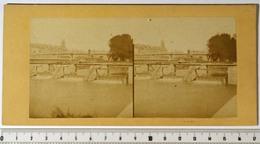 PHOTO STÉRÉO - PARIS 6e - La Seine, Barrage Et Ecluse De La Monnaie. Pont-Neuf. XIXe 19e Siècle - Fotos Estereoscópicas