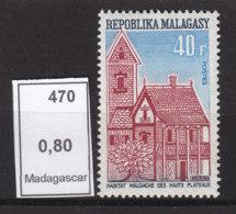# Madagascar Malagasy .. YT  470  ** SC  Habitat Des Hauts Plateaux - Madagascar (1960-...)