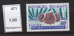 # Madagascar Malagasy .. YT  471 ** SC  Habitat Hutte - Madagascar (1960-...)